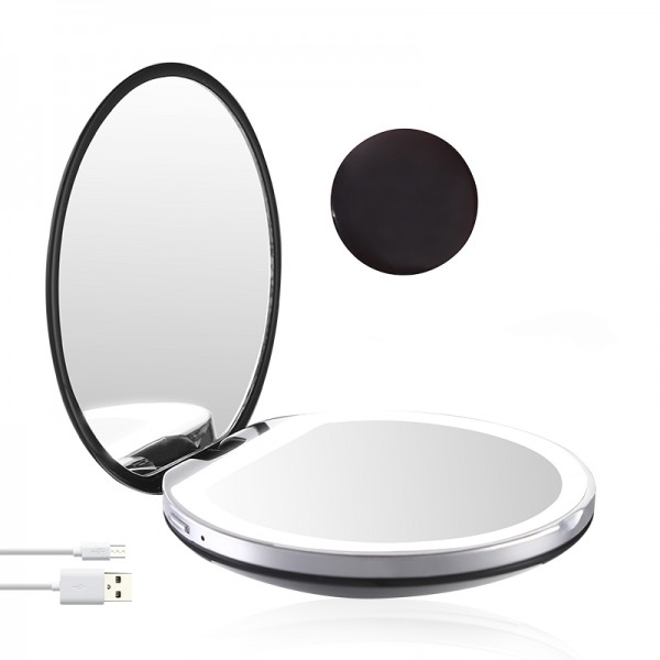 MAQUILLAGE Taschenspiegel mit LED-Beleuchtung (USB)