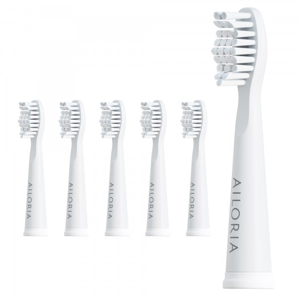 FLASH TRAVEL / PRO SMILE Replacement brush heads set of 6